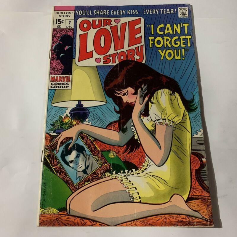 Our Love Story #2 Rare Silver Age Romance Comics 1st Print John Romita Cover