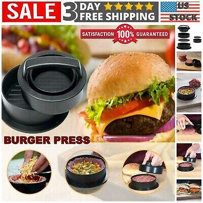 Burger Press Hamburger Maker Mould Non Stick Beef Patty BBQ Meat NEW P6S9