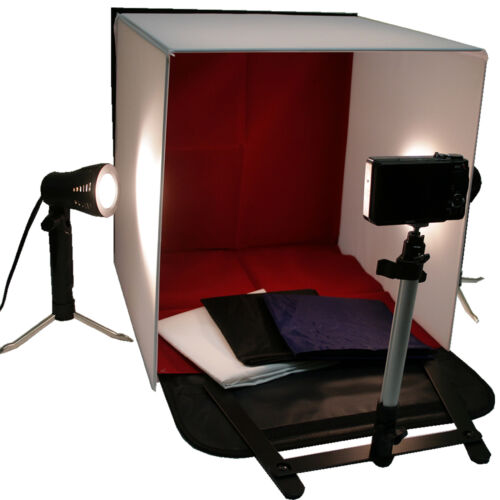 """Photo Studio 16"""" Photography Light Tent In A Box Backdrop Kit Carrying Case Cube"""