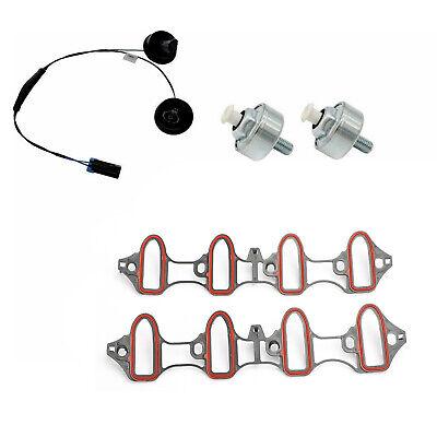New Knock Sensor Harness Intake Manifold Gasket Kit Set 5pc for Silverado Sierra (Knock Sensor Kit)
