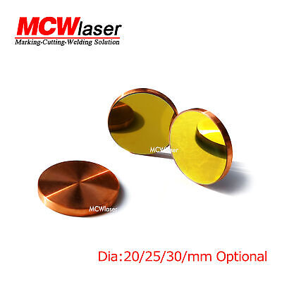 New Hq Dia. 20mm Cu Copper Reflection Mirror Co2 Laser Cutting Engraving Cutter