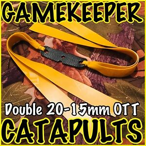 "OTT GAMEKEEPER CATAPULTS ""HUNTER BANDS"" DOUBLE THERABAND GOLD SLINGSHOT ELASTIC"