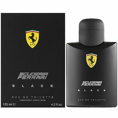 FERRARI SCUDERIA BLACK 125ML EAU DE TOILETTE SPRAY BRAND NEW & SEALED