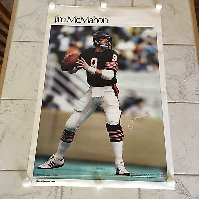 the best attitude e77b8 28640 Vintage 1980 s Sports Illustrated Jim McMahon 23X35 Poster Chicago Bears NFL  FB.