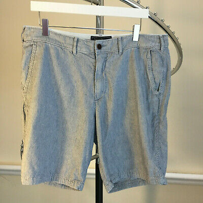 "Abercrombie & Fitch A&F Mens Cotton Shorts Size 34"" Waist Zip Fly Good Condition"