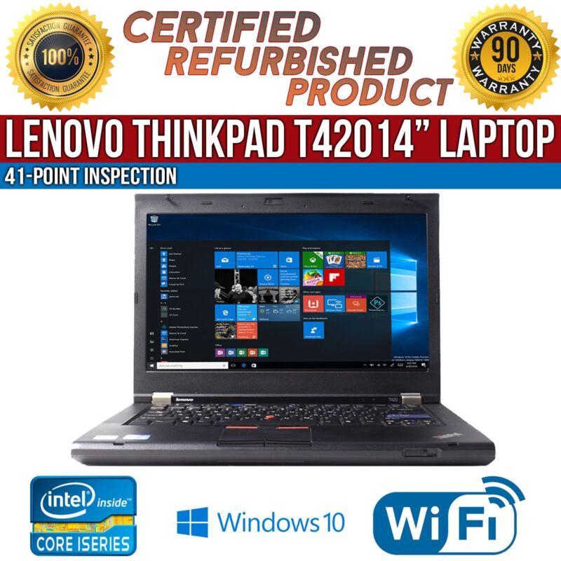 "C Grade Lenovo ThinkPad T420 14"" Intel i5 8 GB RAM 320 GB HDD Win 10 WiFi Laptop"