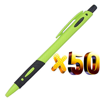 Light Green Ink - Lot 50pc Plastic Light Green New Ballpoint Pen,Black Ink,Promotion Gift,Cool