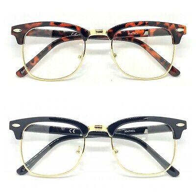 New Fashion Clear UV Lens Retro Fashion Malcolm X Half Frame Flash Sunglasses (Malcolm X Sunglasses)