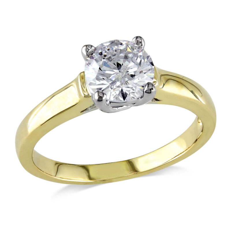 Amour 1 Ct Tw Diamond Solitaire Ring In 14k Yellow Gold