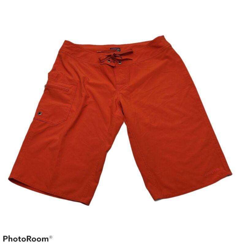 Patagonia Women Deep Orange Light Weight Outdoor Adventure Golf Shorts 2