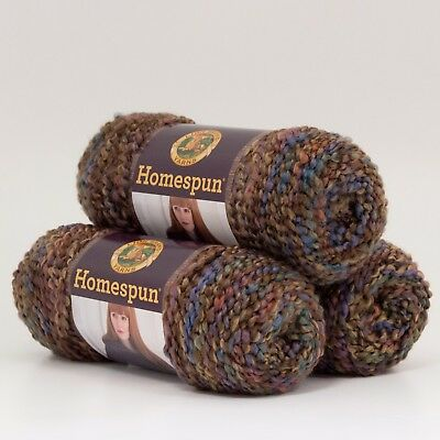 Lion Brand Yarn 790-338 Homespun Yarn, Nouveau (Pack of 3 skeins)