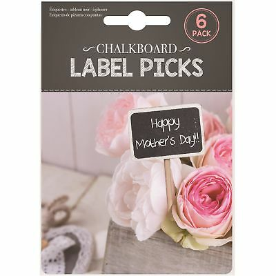 6 x Chalkboard Signs Labels Picks Wedding Food Sticks Decoration Party Price Tag