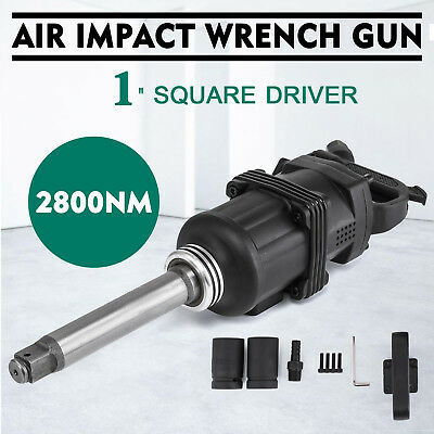 Industrial Air Impact Wrench 1 Pneumatic Compressor Long Shank 2070ft.lb New