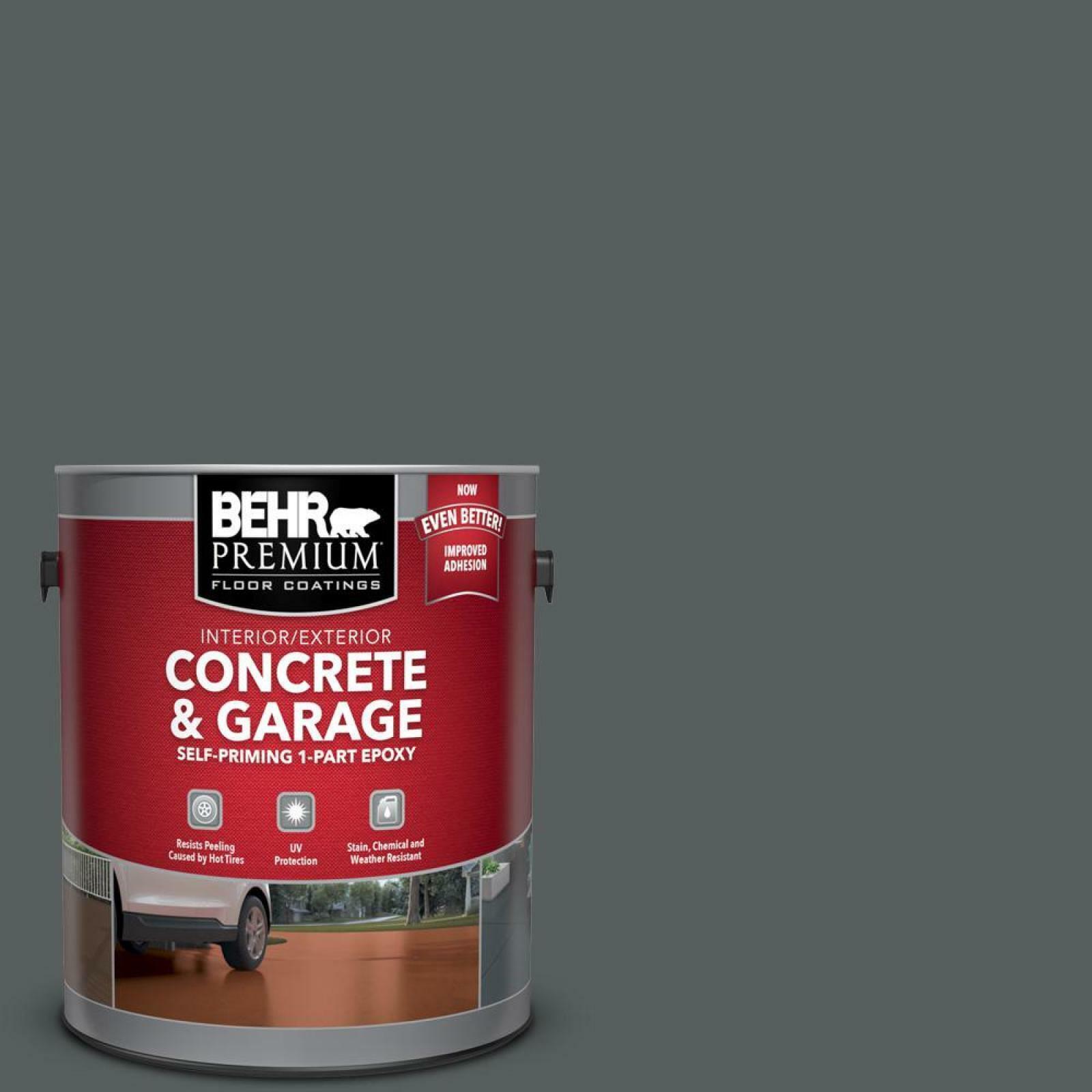 Charcoal Gray Paint >> Details About Charcoal Gray Epoxy Paint Concrete Garage Floor Porch Deck Acrylic Satin Coating