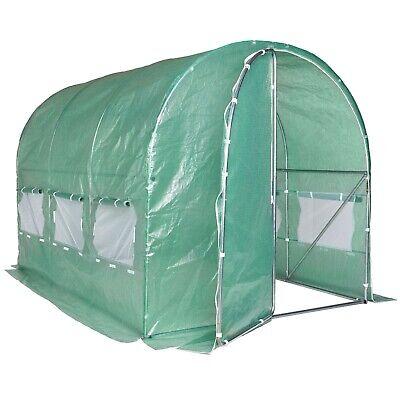 VonHaus Walk In Polytunnel Greenhouse Garden Tent with Steel Frame 3m X 2m