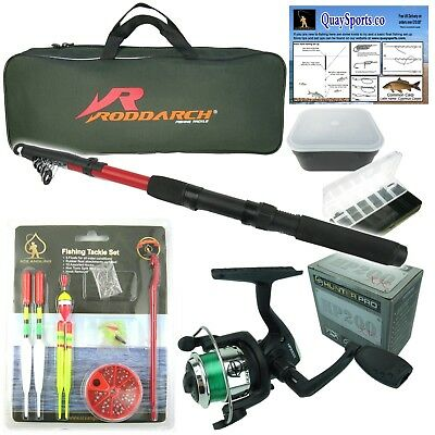 Complete Starter Junior Beginner Kids Fishing Rod & Reel Kit Set Inc. All Tackle