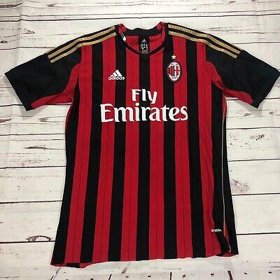 Adidas Mario Balotelli AC Milan Soccer Jersey Youth XL EUC Adidas