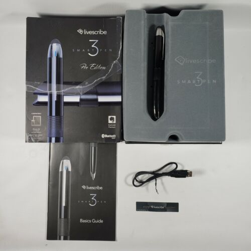 LIVESCRIBE 3 SMARTPEN PRO EDITION  STYLUS FOR IPHONE IPAD ANDROID EVERNOTE