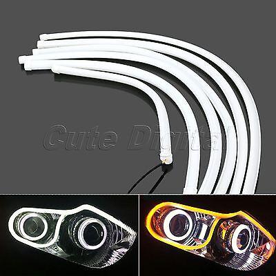 Car DRL Daytime Running Lamp LED Strip Light Flexible Tube White/Yellow 60CM 2