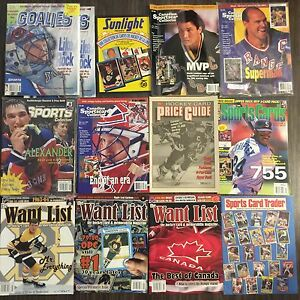 13 SPORTS CARDS PRICE GUIDES & CARD CHECKLIST MAGAZINES