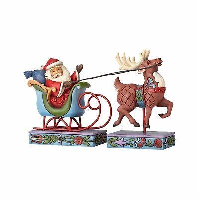 Mini Santa In Sleigh with Reindeer figurines by Jim Shore - 4056609