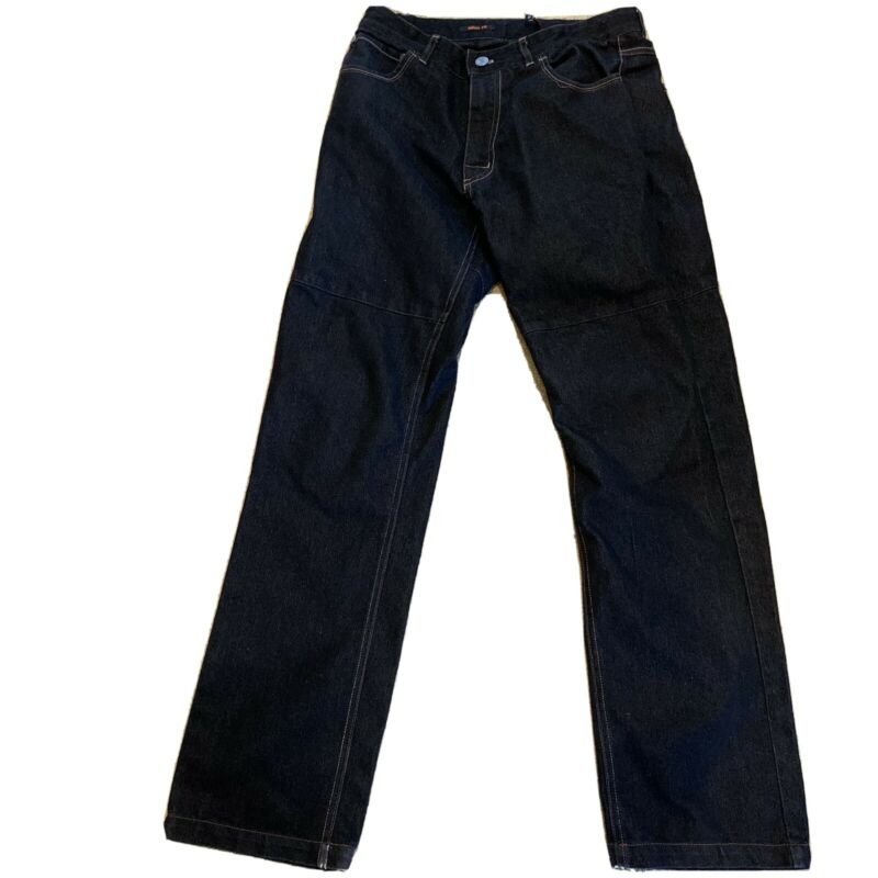 GRINDZ Size 30 Slim Fit Skate Park Denim Black Padded Jeans Skating Pads