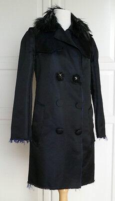 Lanvin for H&M Luxuriöser Mantel Seide Gr. EUR 40 size US 10 UK 14 NEU NEW