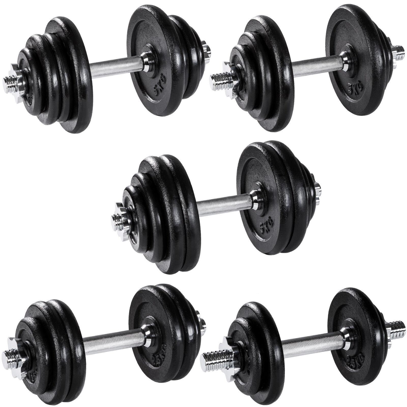 Manubrio con pesi in ghisa palestra set peso fitness bilanciere nero