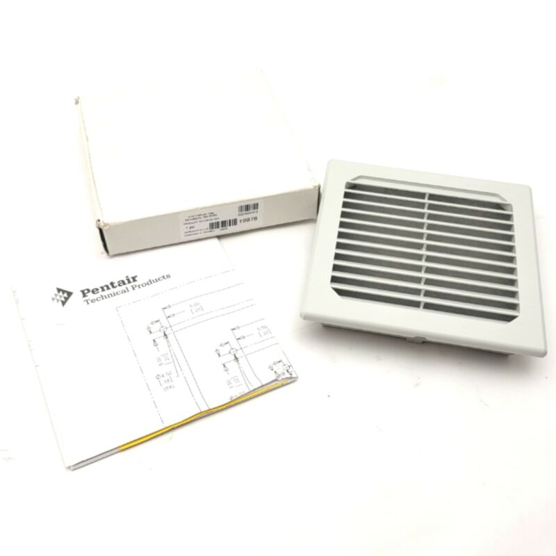 """Pentair SG0500404 Enclosure Exhaust Grill 5"""" x 5"""", IP54, RAL 7035 Light Gray"""