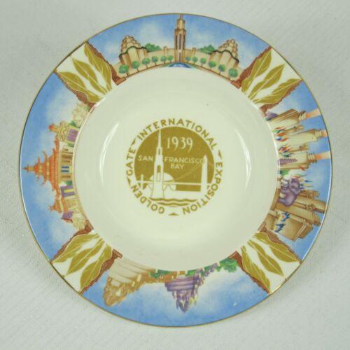 1939 San Francisco Worlds Fair Souvenir Ceramic Ash Tray Art Deco Homer Laughlin