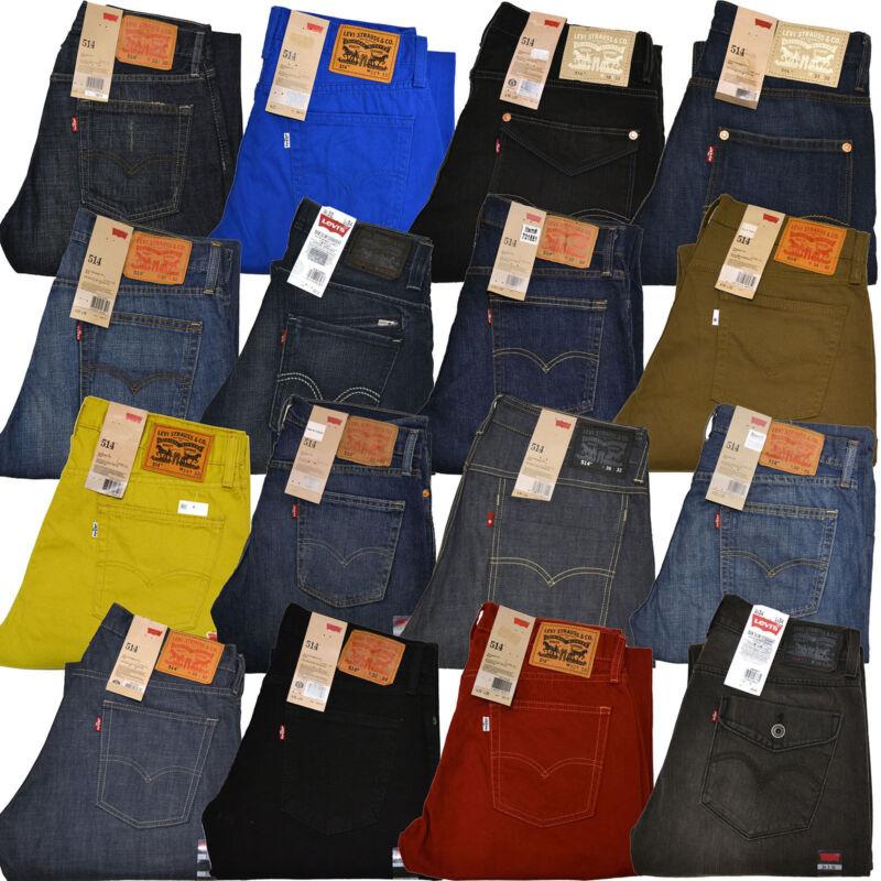 Levis 514 Jeans Slim Straight Leg Mens Stonewashed Denim 29 30 31 32 33 34 36 38