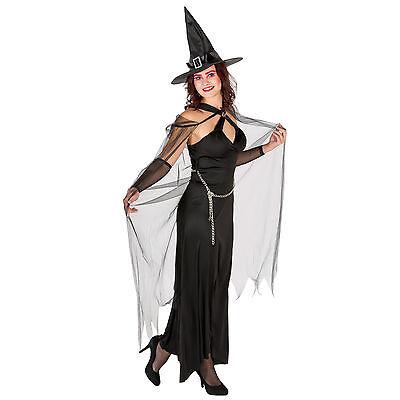 Sexy Königin der Finsternis Karneval Fasching Halloween Hexe Damen Hexenkleid