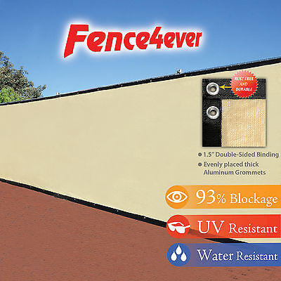 Tan Mesh Tarps (Tan Beige 4' 5' 6' 8' tall Fence Windscreen Privacy Screen Shade Cover Mesh Tarp )
