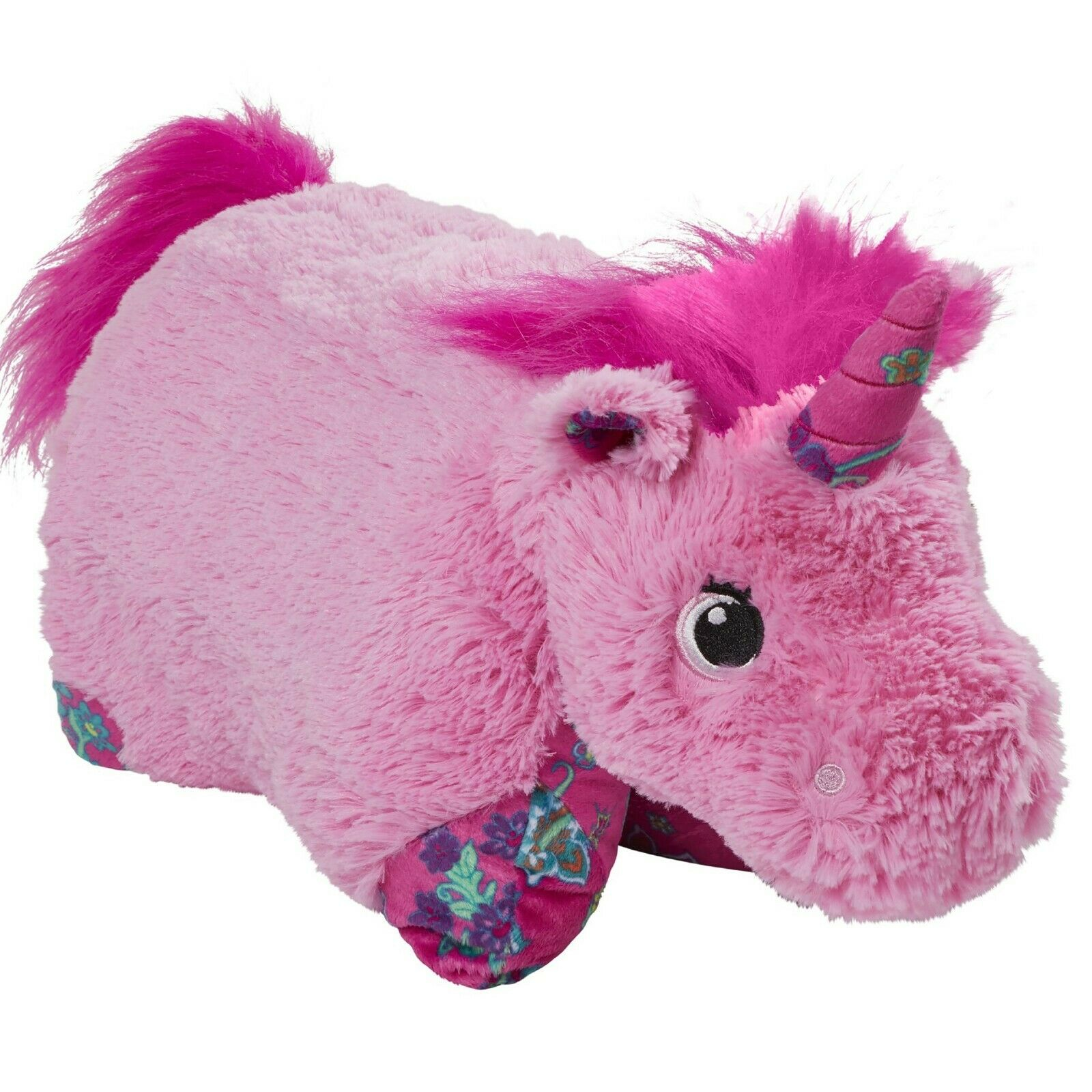 "Pillow Pets Colorful Pink Unicorn - 18"" Stuffed Animal Plush"