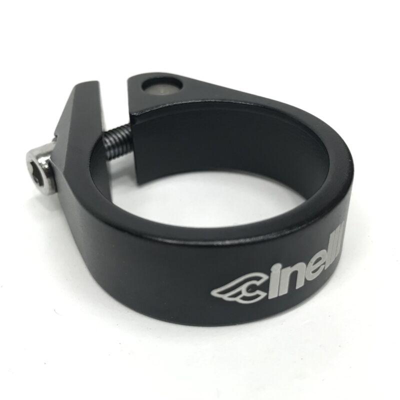 Cinelli Logo seat collar/clamp, 35.2-35.6mm black
