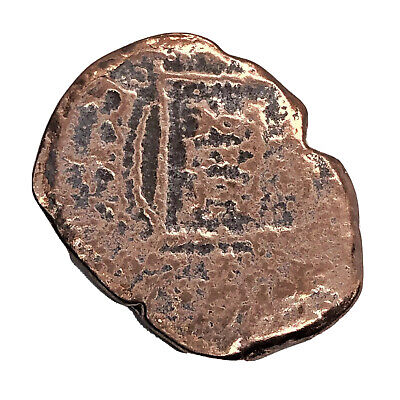1600's Spanish Caribbean Pirate Coin Copper Artifact Authentic Shipwreck Old A3