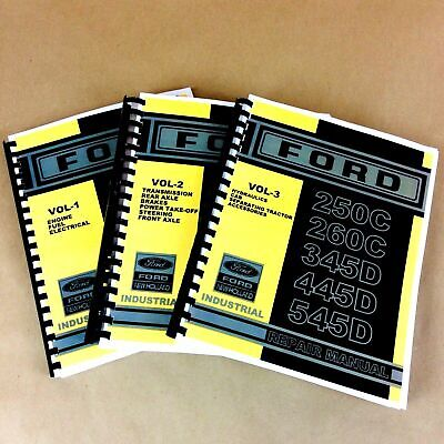 Service Repair Shop Manual For Ford New Holland 250c 260c Industrial Tractor Set