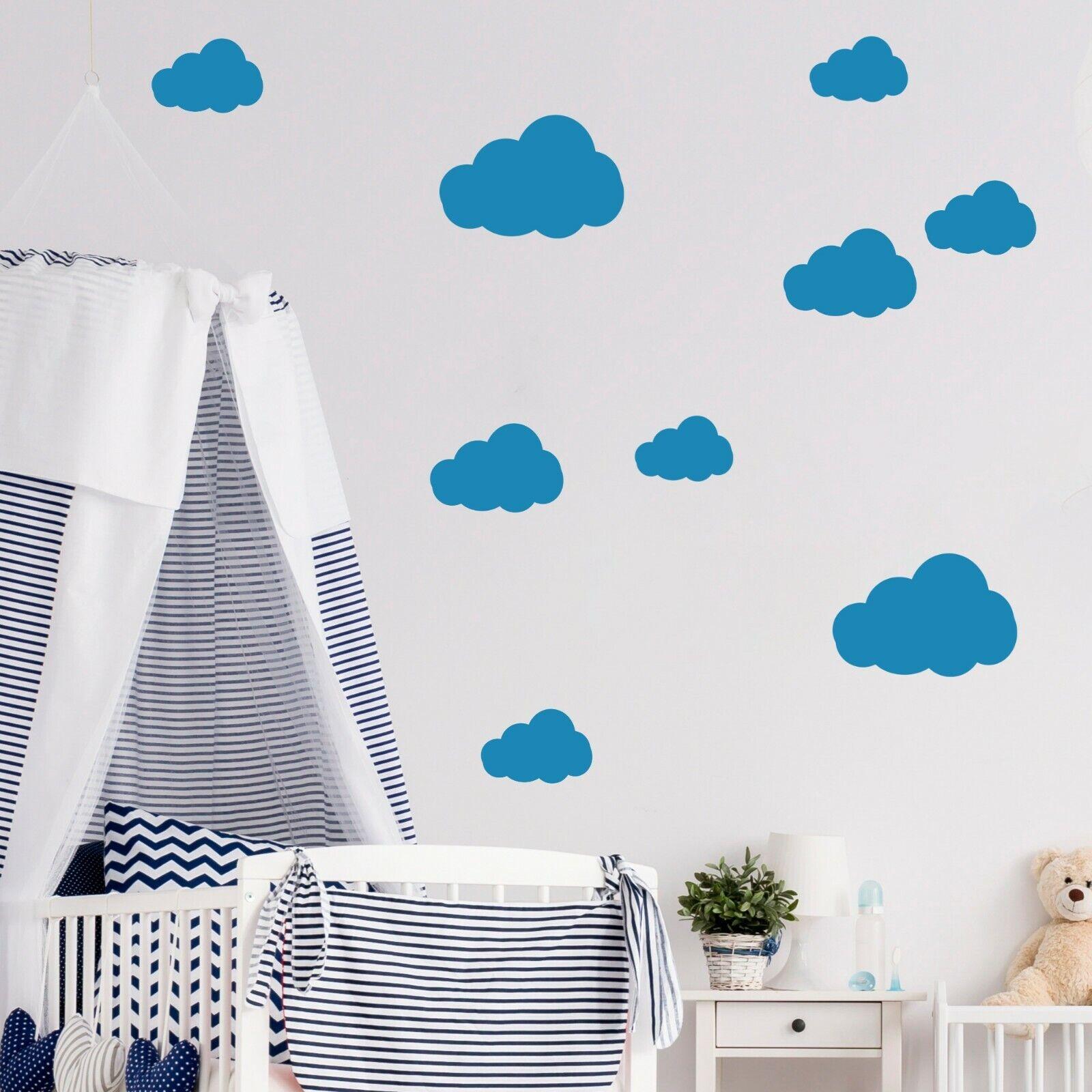 Wandtattoo Aufkleber Sticker Wanddeko Wolken fürs Kinderzimmer Spielzimmer