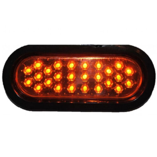 "(1) 6"" Work Truck Box Trailer Rv Brake Tail Park Turn Signal Lights Amber 26-Led"