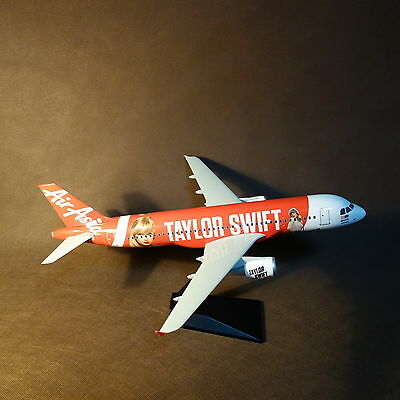 1 100 Air Asia Airbus A320 200 Taylor Swift 2014 Livery Airplane Model