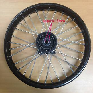 "Black 15mm axle 60/100- 14"" Inch Front Wheel Rim Knobby Tyre PIT"