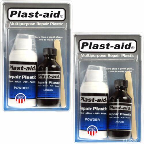 Plast-Aid Acrylic and PVC Repair Kit for Hot Tub Cracks & Leaks - 2 x 6oz. Kits