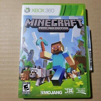 Minecraft Microsoft Xbox 360 Edition Clean