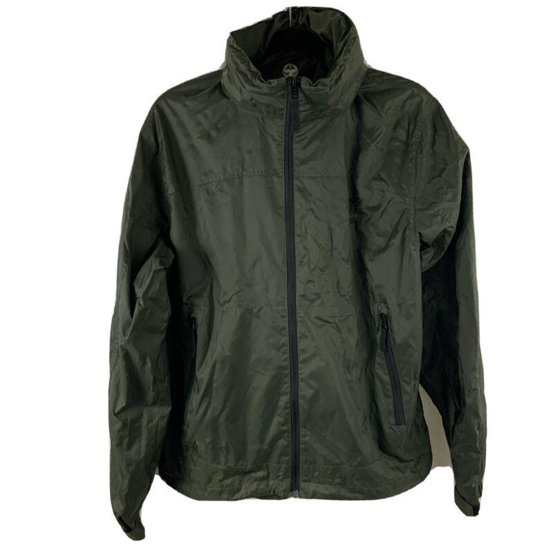 Boy Scouts of America Hooded Green Wind Tech Jacket Adult Size Medium EUC