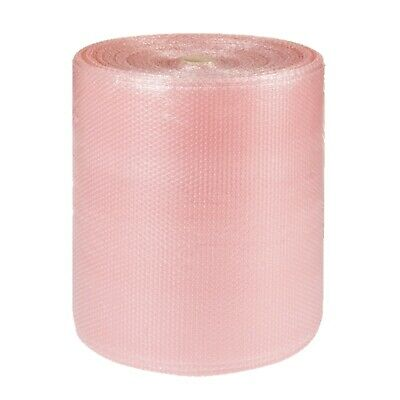 1 x 500mmx50m High Quality PINK ANTI STATIC Small Polythene Bubble Wrap