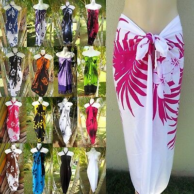 - Hawaii Sarong Pareo Tropical Cruise Beach Pool Sexy Bikini Cover-Up Wrap Dress