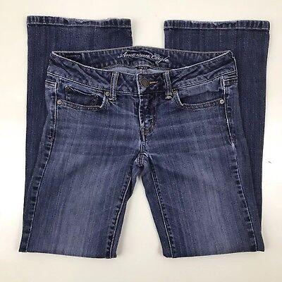 American Eagle Jeans Favorite Boyfriend Stretch Womens Size 2 Short Distressed