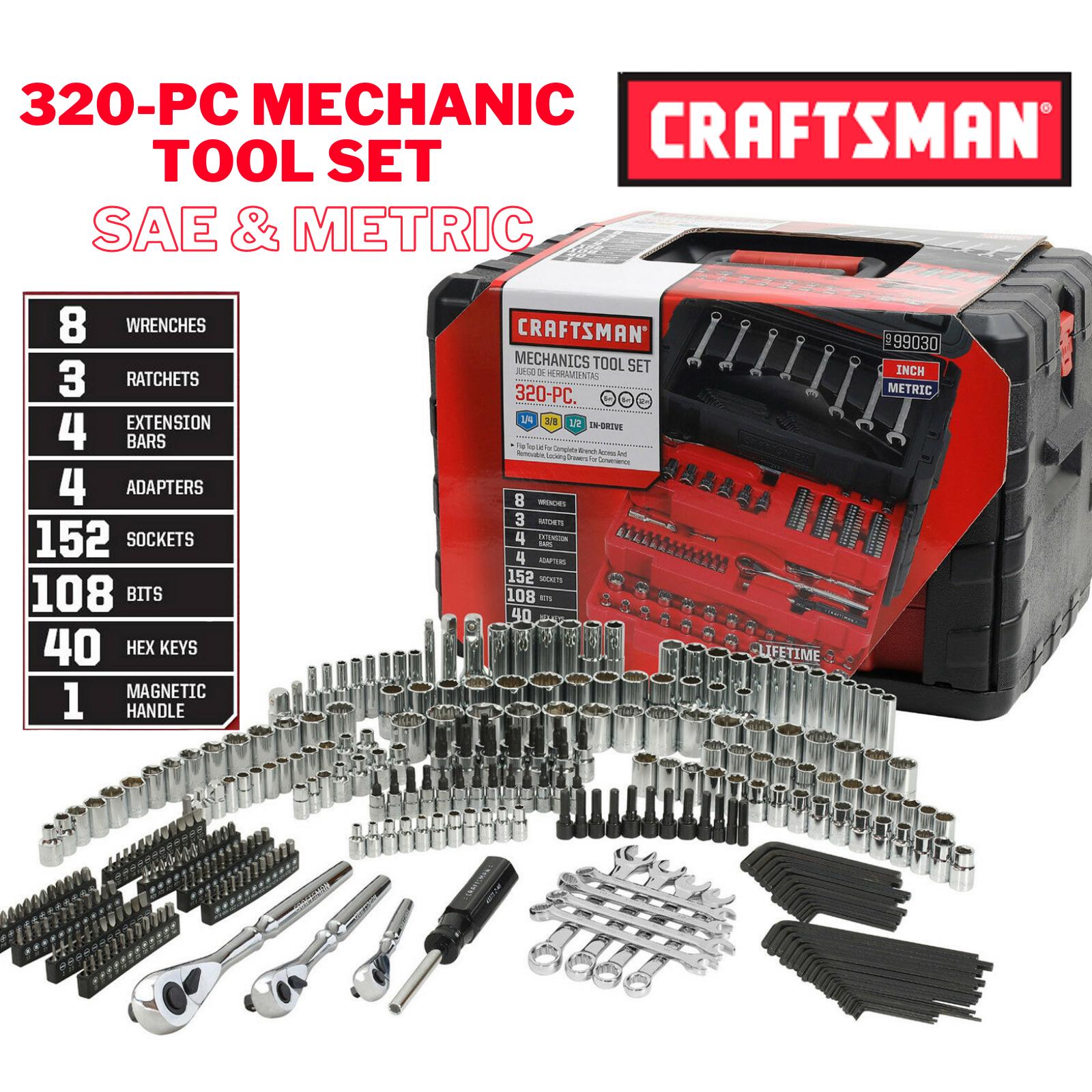 Craftsman 320 Piece Mechanic's Tool Set With 3 Drawer Case 9