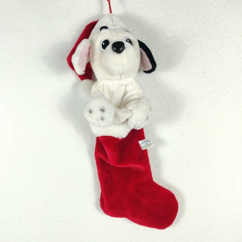 Walt Disney 101 Dalmatians Plush 20 Inch Christmas Stocking Dalmatian Dog Sock