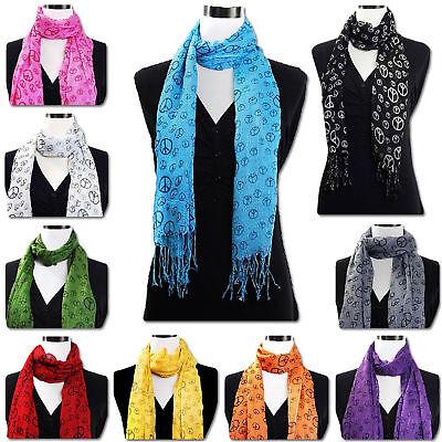 Holiday Seasonal Sale Peace sign scarf, Hipster, Boho, Hippie, Christmas Gift](Christmas Scarfs)